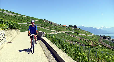 Cycling from Lausanne to Montreux